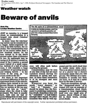 The very first Weatherwatch article from 1988