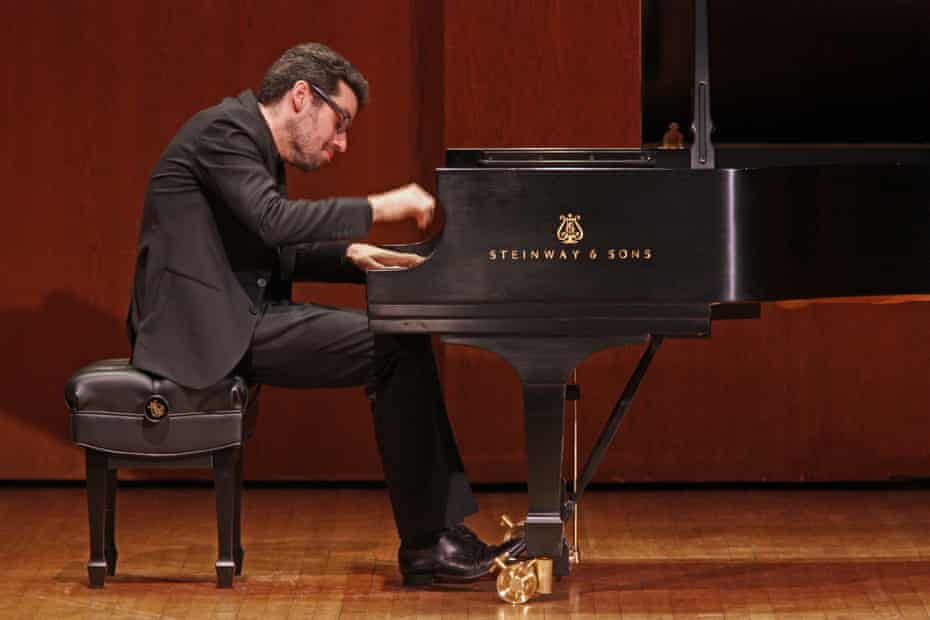 'I usually do 80 concerts a year'… Jonathan Biss on stage at 92Y, in New York.