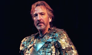 Alan Rickman in Antony and Cleopatra at the National Theatre in 1998.