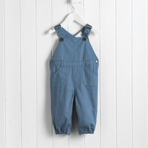 Blue twill dungarees by The White Company