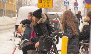 Winter cycling in Oulu, Finland