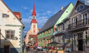Street in Pärnu, Estonia