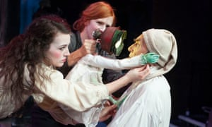 Anna Russell-Martin, Elisa de Grey and, as Scrooge, Benny Young in the Citizens' A Christmas Carol.