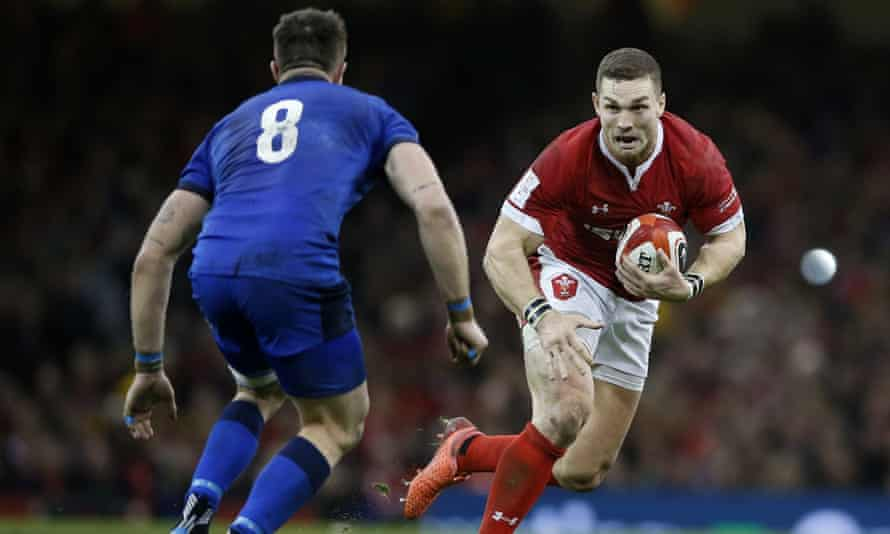 George North attacks during Wales' Six Nations win against Italy