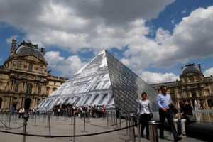 Beat that Bansky ... the Louvre facade revealed.
