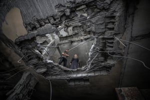 The damaged Confederation of Disabled People's building in Rafah, after Tuesday's Israeli attacks on Gaza.