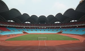 The newly restored May Day stadium in Pyongyang.