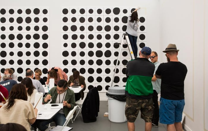 In a work by Jonathan Horowitz, Gavin Brown's Enterprise got passers-by to paint dots freehand