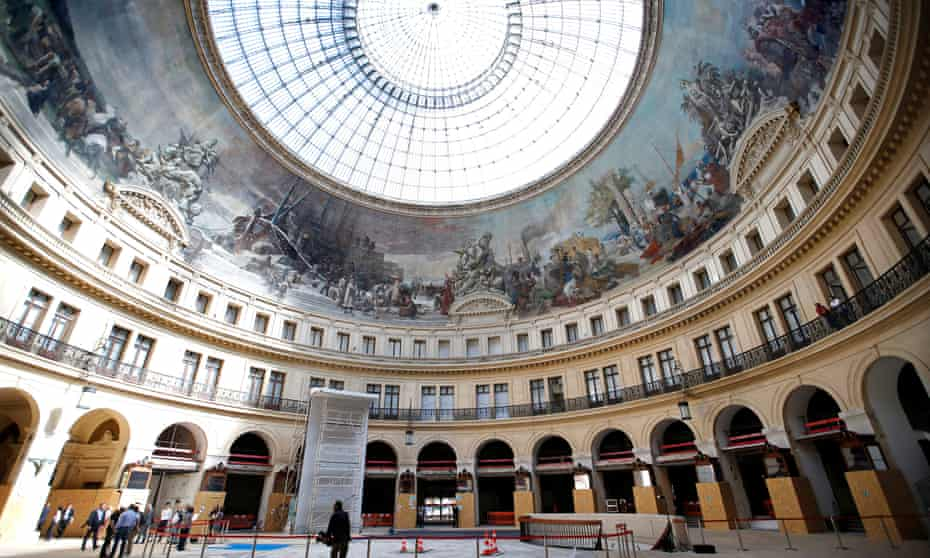 The interior of the Bourse de commerce