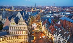 Ghent skyline, Belgium