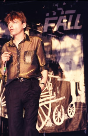 Mark E Smith on stage.