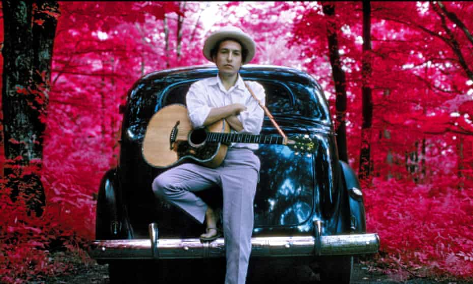 Bob Dylan outside his Byrdcliffe home in Woodstock, New York, 1968.