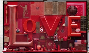 Love by Peter Blake, one of six works donated to the nation by Frank and Lorna Dunphy.