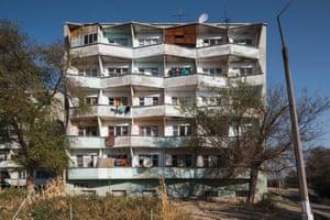 Residential building, 1980s, Chkalovsk, Tajikistan