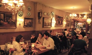 A full dining room at The Pantry restaurant in Amsterdam, the Netherlands.