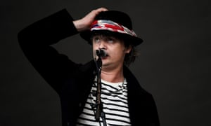 Pete Doherty performs with the Libertines at Glastonbury, 26 June 2015.