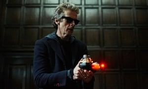 Fun in the dark: the Doctor lightens up.