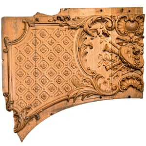 Fragment from an overdoor in the first-class lounge of the Titanic.
