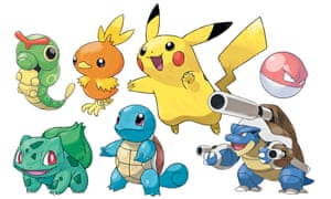A selection of Pokémon characters.