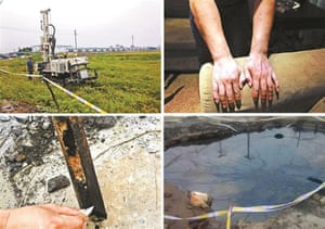 Over 10,000 tonnes of chemical waste were buried under a pig farm in Jingjiang