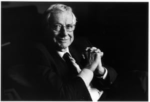 Barry Norman photographed by Observer photographer Jane Bown