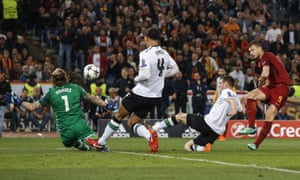 Edin Dzeko gave Roma hope by levelling the scores on the night at 2-2.
