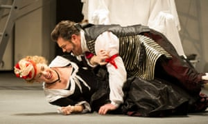 Pressing issue … Anna Devin as Susanna and David Stout as Figaro, WNO