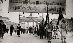 A National Socialist demonstration in Berlin, 1931.