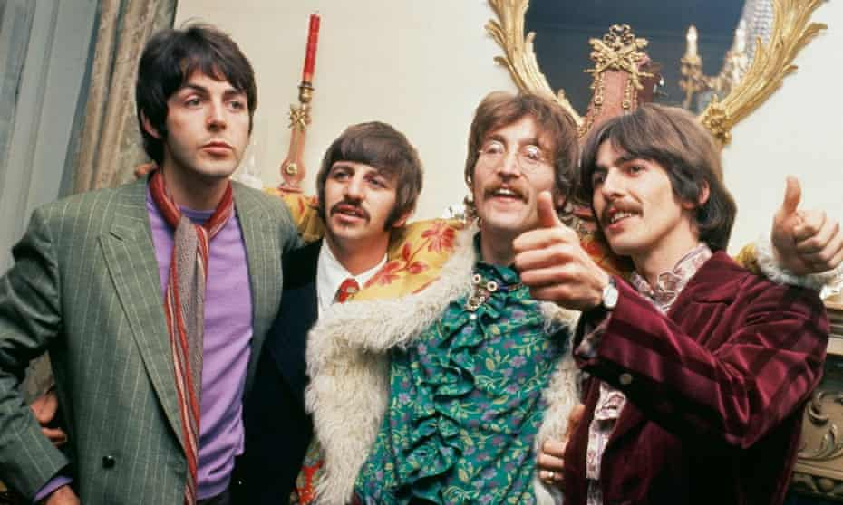 The Beatles at manager Brian Epstein's home, 1967.