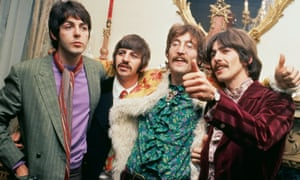 The Beatles at manager Brian Epstein's London home for the launch of the Sgt Pepper album in 1967.