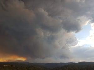 A pyroCB at Walhalla, Victoria, on 3 February 2019 .