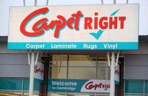 A Carpetright store in Cambridge.