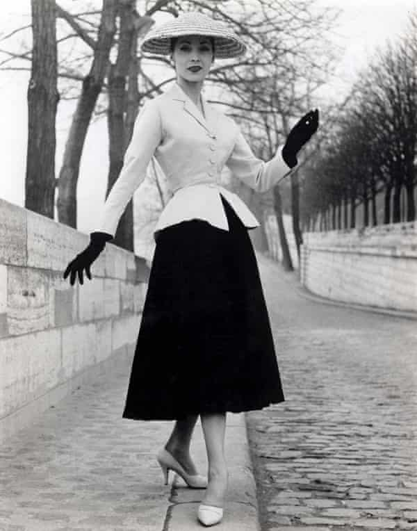 A 'coolie hat' as part of Dior's New Look, 1947.