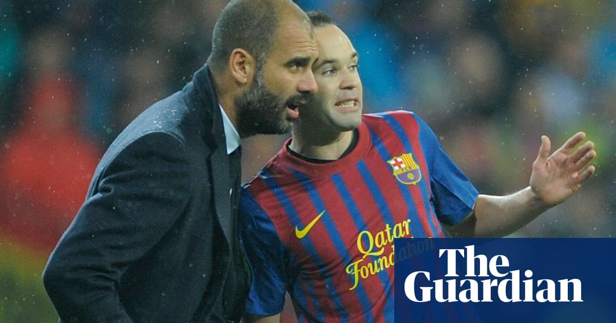 2a85e9c07 Pep Guardiola  my debt to Andrés Iniesta and how he opened my eyes on  tactics