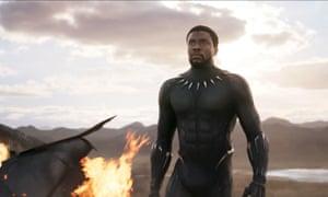 Chadwick Boseman as T'Challa in Black Panther, 2018