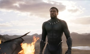 Chadwick Boseman in Black Panther … 'an echo of a very particular type of black anger'.