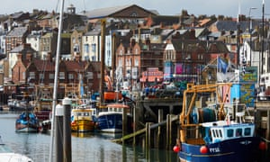 Scarborough fishing boats by the quay