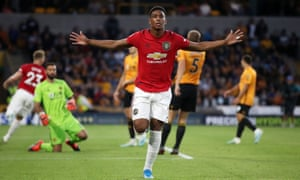 Anthony Martial, celebrating here after scoring against Wolves, is one of many Manchester United players to have been injured this season.