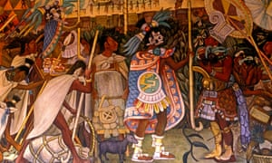 Mural of Aztecs by Diego Rivera