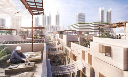 Part of the Foster + Partners vision for the redeveloped Maspero Triangle.