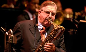 Joe Temperley performs with Wynton Marsalis and his orchestra at the Barbican Centre in London in 2007