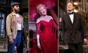 Andre Holland in Jitney, Bette Midler in Hello Dolly! and Kevin Kline in Present Laughter.