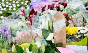 Floral tributes to Jo Cox in Parliament Square