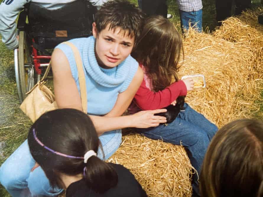Kids on hay bales