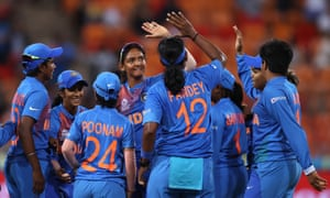 India players celebrate another Australian wicket.