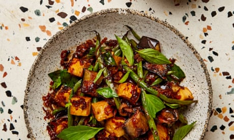 Meera Sodha's vegan recipe for aubergine, green bean and Thai holy basil stir-fry