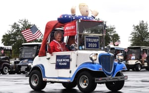Donald Trump supporters participate in a golf cart parade after he lost the 2020 U.S. presidential election, Florida