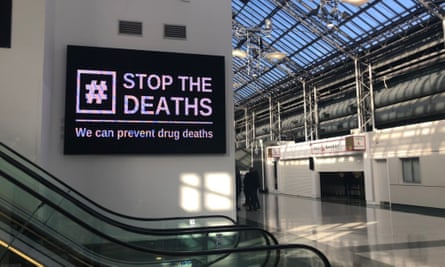 A sign at the Scottish Drugs Conference, Glasgow, February 2020