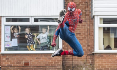 Stockport Spider-Man in action