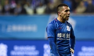 Carlos Tevez has scored just twice in the Chinese Super League since his move in December.